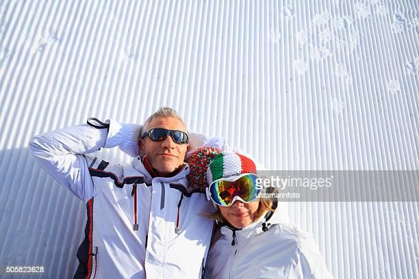 Skieur Couple de neige