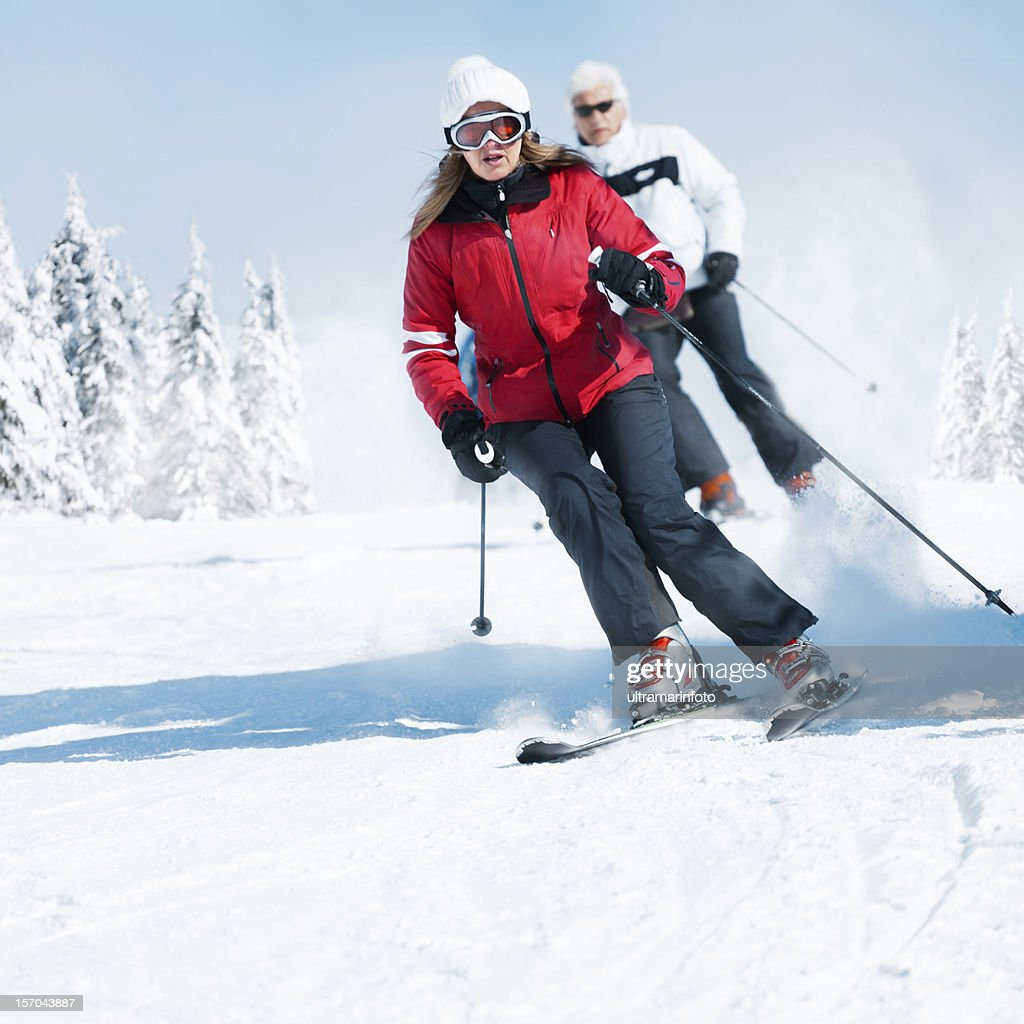 Snow Skiing : Stock Photo
