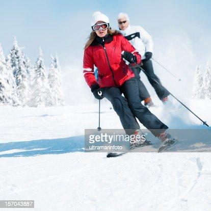 Snow Skiing : Stock Photo