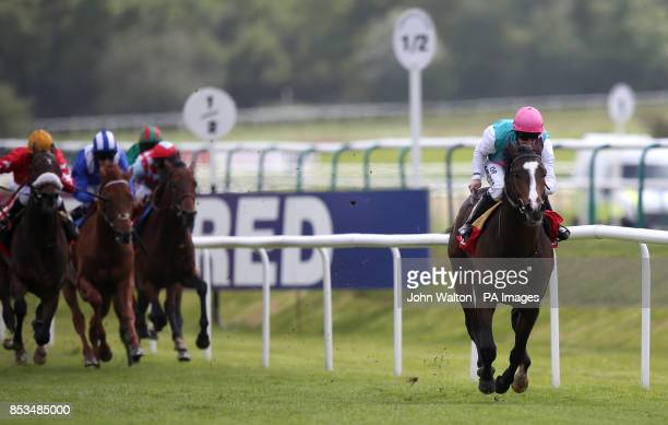 Snow Sky ridden by Jim Crowley comes home to win betfredcom Derby Trial Stakes during the Derby Trial Raceday at Lingfield Park Racecourse PRESS...