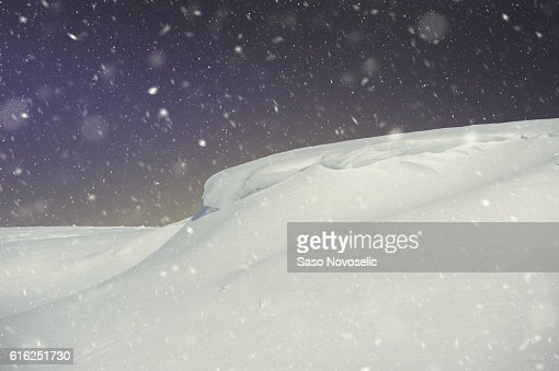 Snow Slopes At Night : Foto de stock