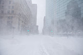 Snow swirls in white out conditions during a blizzard on January 27 2015 in Boston Massachusetts Twentysix inches of snow fell on Boston by the late...