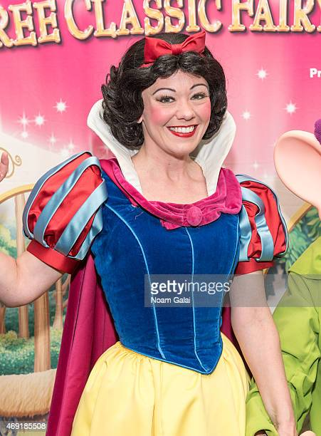 Snow White attends The Moms Disney Live Mamarazzi event with Alana and Nicole Feld at Madison Square Garden on April 10 2015 in New York City
