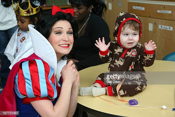 Snow White from Disney on Ice enchants Children's Hospital Boston patients at Children's Hospital Boston on December 21 2010 in Boston Massachusetts