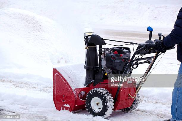 Snowblowing marciapiede