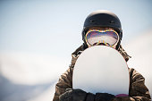 snowboard and.A  snowboarder. extreme winter sport