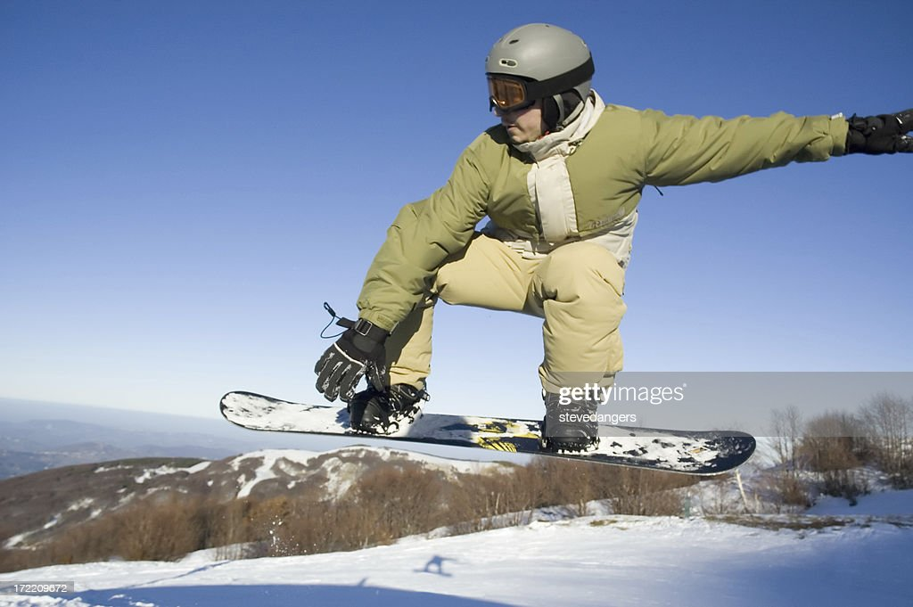 Snowboarder azione zoom : Foto stock