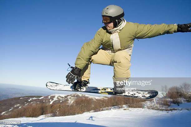 Snowboarder azione zoom