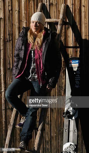 Snowboarder Amelie Kober of Germany poses during a portrait session on November 26 2009 in Hochfuegen Austria