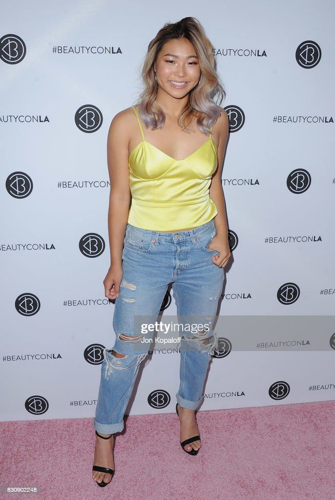 Snowboarder Chloe Kim arrives at the 5th Annual Beautycon Festival Los Angeles at Los Angeles Convention Center on August 12, 2017 in Los Angeles, California.