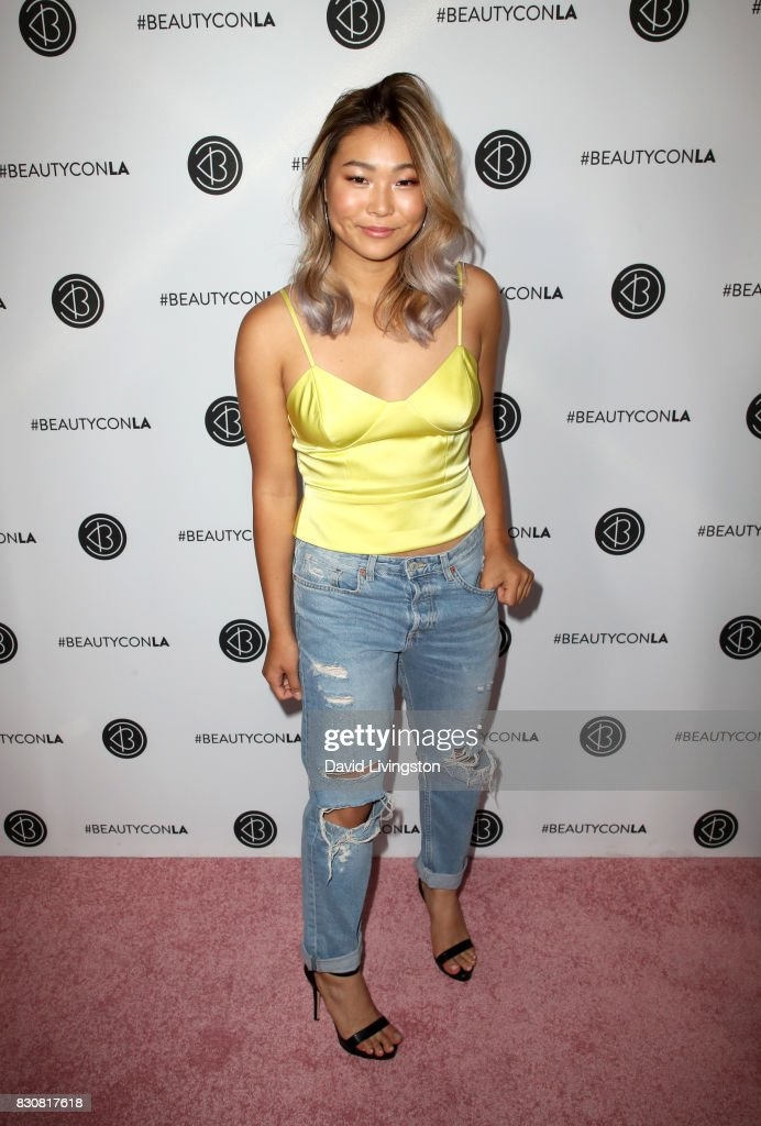 Snowboarder Chloe Kim attends Day 1 of the 5th Annual Beautycon Festival Los Angeles at the Los Angeles Convention Center on August 12, 2017 in Los Angeles, California.