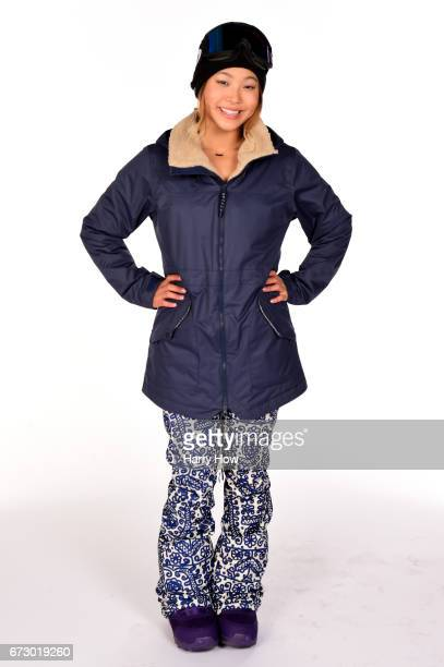 Snowboarder Chloe Kim poses for a portrait during the Team USA PyeongChang 2018 Winter Olympics portraits on April 25 2017 in West Hollywood...
