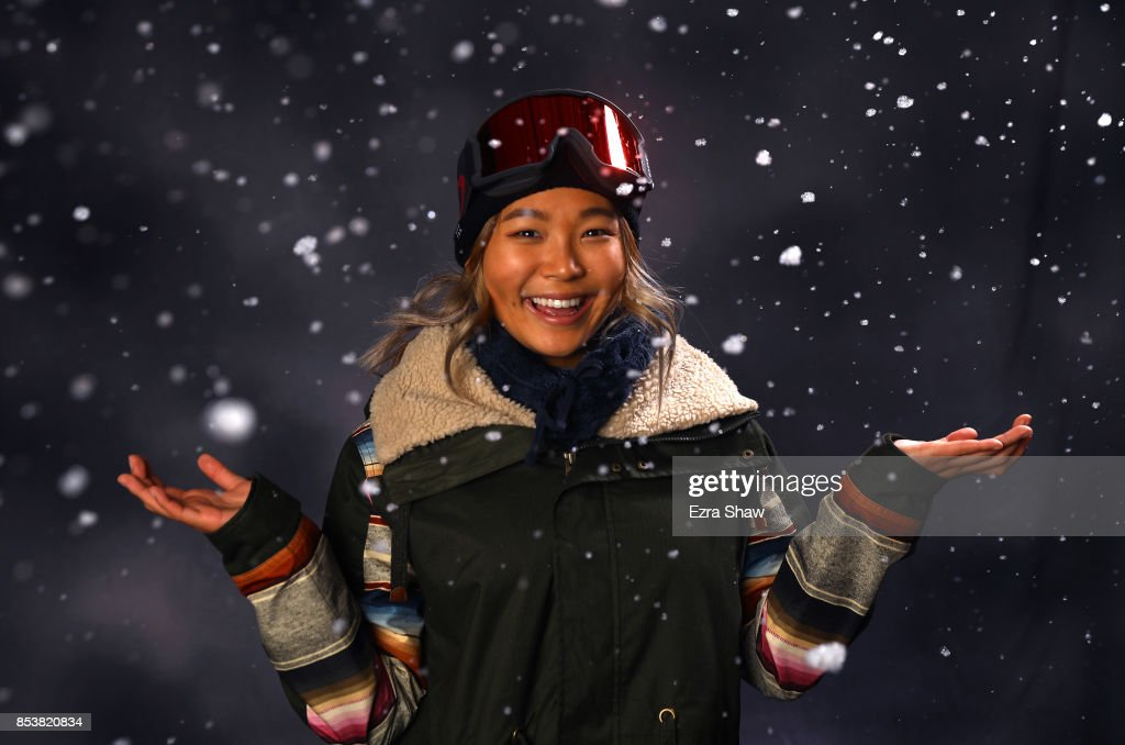 Snowboarder Chloe Kim poses for a portrait during the Team USA Media Summit ahead of the PyeongChang 2018 Olympic Winter Games on September 25, 2017 in Park City, Utah.