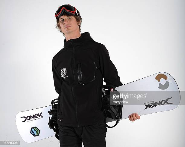 Snowboarder Evan Strong poses for a portrait during the USOC Portrait Shoot on April 23 2013 in West Hollywood California