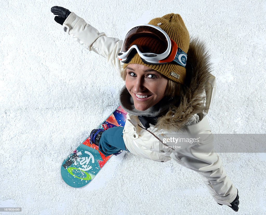 Snowboarder <a gi-track='captionPersonalityLinkClicked' href=/galleries/search?phrase=Gretchen+Bleiler&family=editorial&specificpeople=182504 ng-click='$event.stopPropagation()'>Gretchen Bleiler</a> poses for a portrait during the USOC Portrait Shoot on April 26, 2013 in West Hollywood, California.