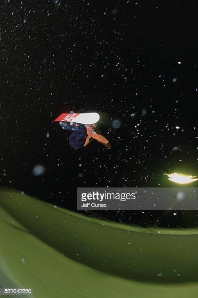 Snowboarder Kelly Clark at Night