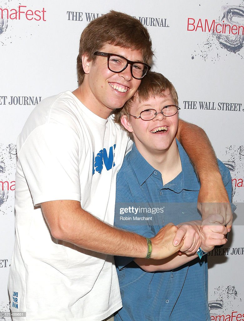 Snowboarder Kevin Pearce (L) and David Pearce attend BAMcinemaFest New York 2013 Screening Of 'The Crash Reel' at BAM Rose Cinemas on June 24, 2013 in New York City.