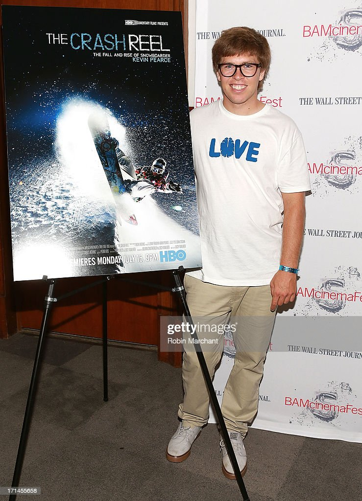Snowboarder <a gi-track='captionPersonalityLinkClicked' href=/galleries/search?phrase=Kevin+Pearce&family=editorial&specificpeople=3107126 ng-click='$event.stopPropagation()'>Kevin Pearce</a> attends BAMcinemaFest New York 2013 Screening Of 'The Crash Reel' at BAM Rose Cinemas on June 24, 2013 in New York City.