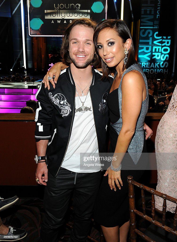 Snowboarder Louie Vito and dancer Cheryl Burke in the audience at the 2014 Young Hollywood Awards brought to you by Samsung Galaxy at The Wiltern on...