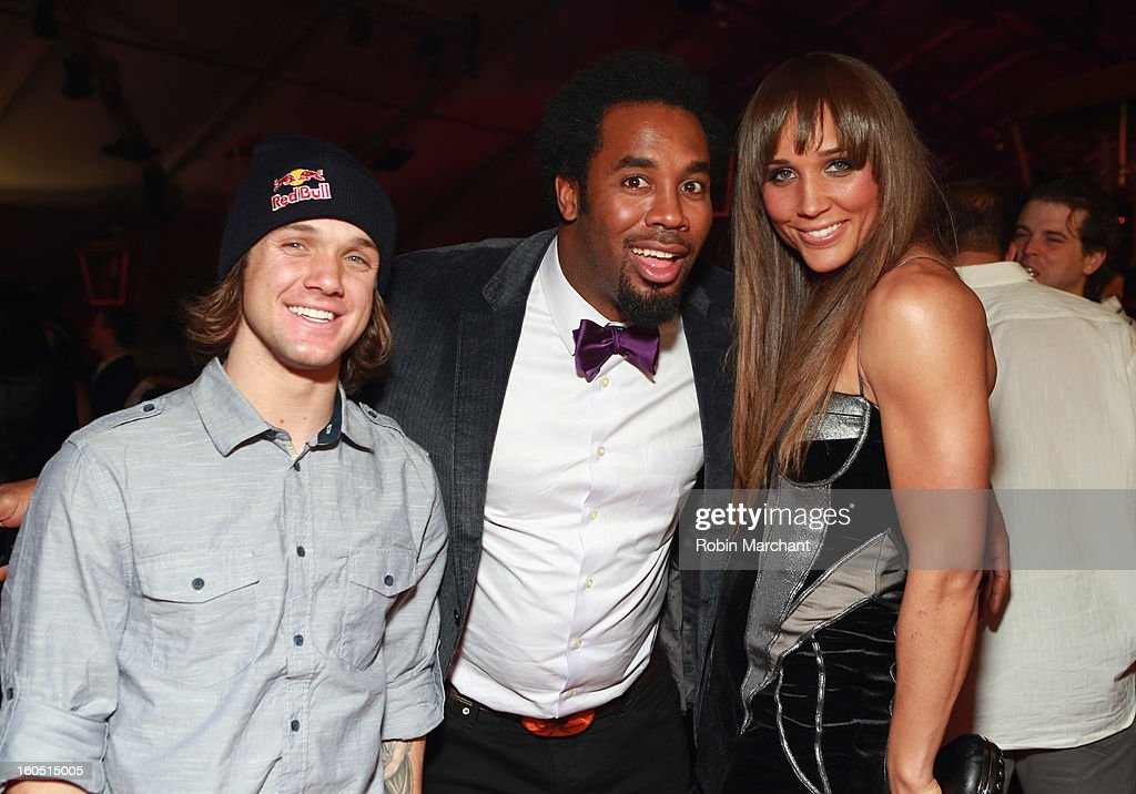 Snowboarder Louie Vito, former NFL player Dhani Jones and Olympian Lolo Jones attend ESPN The Magazine's 'NEXT' Event at Tad Gormley Stadium on February 1, 2013 in New Orleans, Louisiana.
