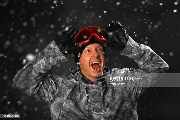 Snowboarder Nate Holland poses for a portrait during the Team USA Media Summit ahead of the PyeongChang 2018 Olympic Winter Games on September 27...
