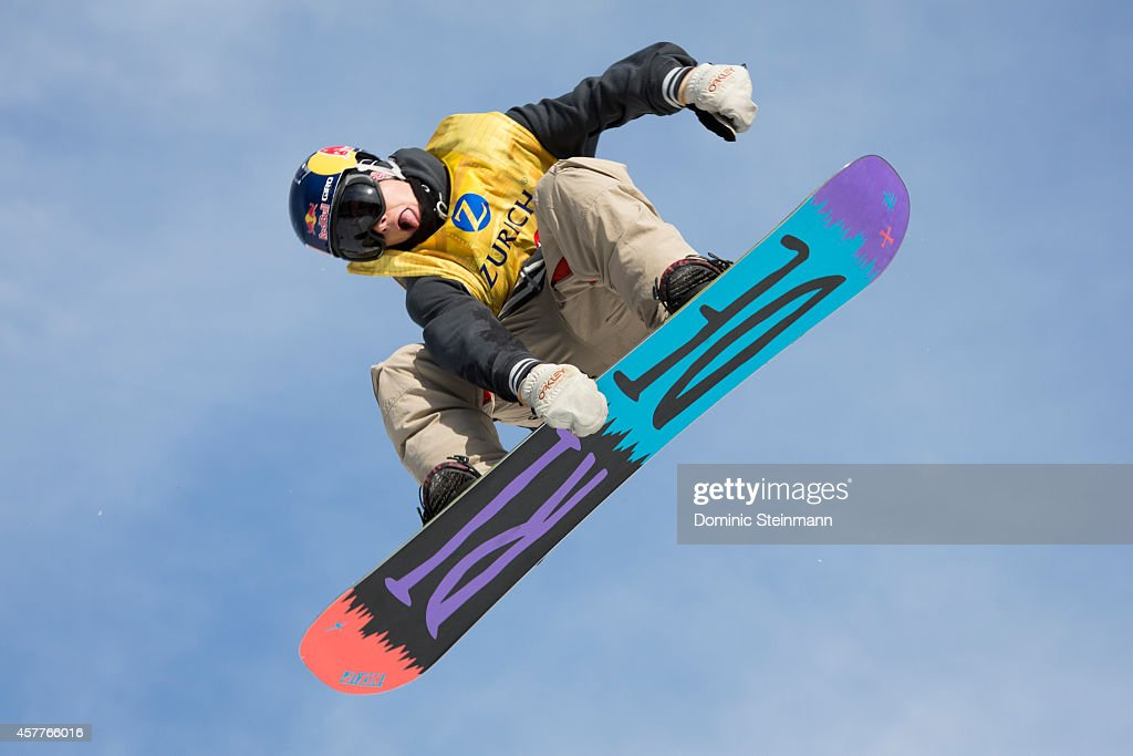 Snowboarder <a gi-track='captionPersonalityLinkClicked' href=/galleries/search?phrase=Sebastien+Toutant&family=editorial&specificpeople=7354928 ng-click='$event.stopPropagation()'>Sebastien Toutant</a> of Canada in action at freestyle.ch Zurich 2013 on September 22, 2013 in Zurich, Switzerland.