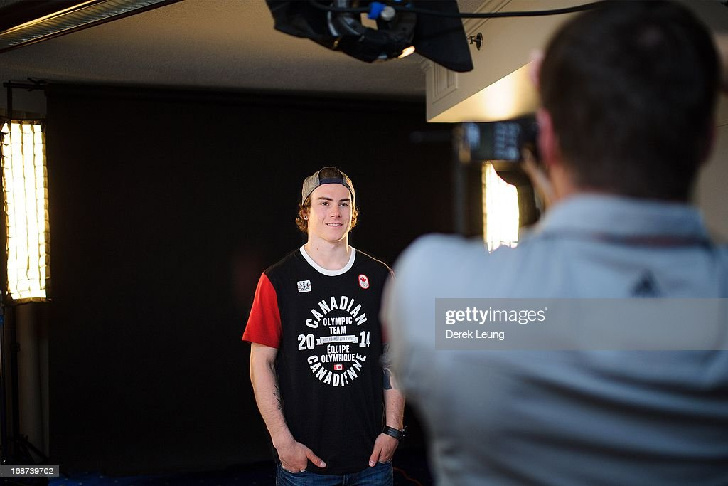 Snowboarder Sebastien Toutant poses for a portrait during the Canadian Olympic Committee Portrait Shoot on May 13, 2013 in Vancouver, British Columbia, Canada.