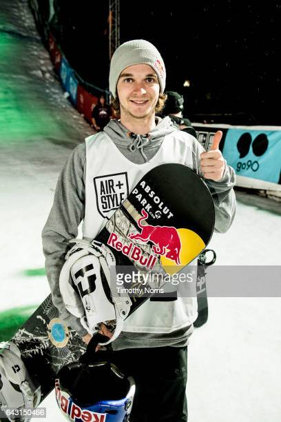 Snowboarder Seppe Smits attends Air Style Los Angeles 2017 at Exposition Park on February 19 2017 in Los Angeles California