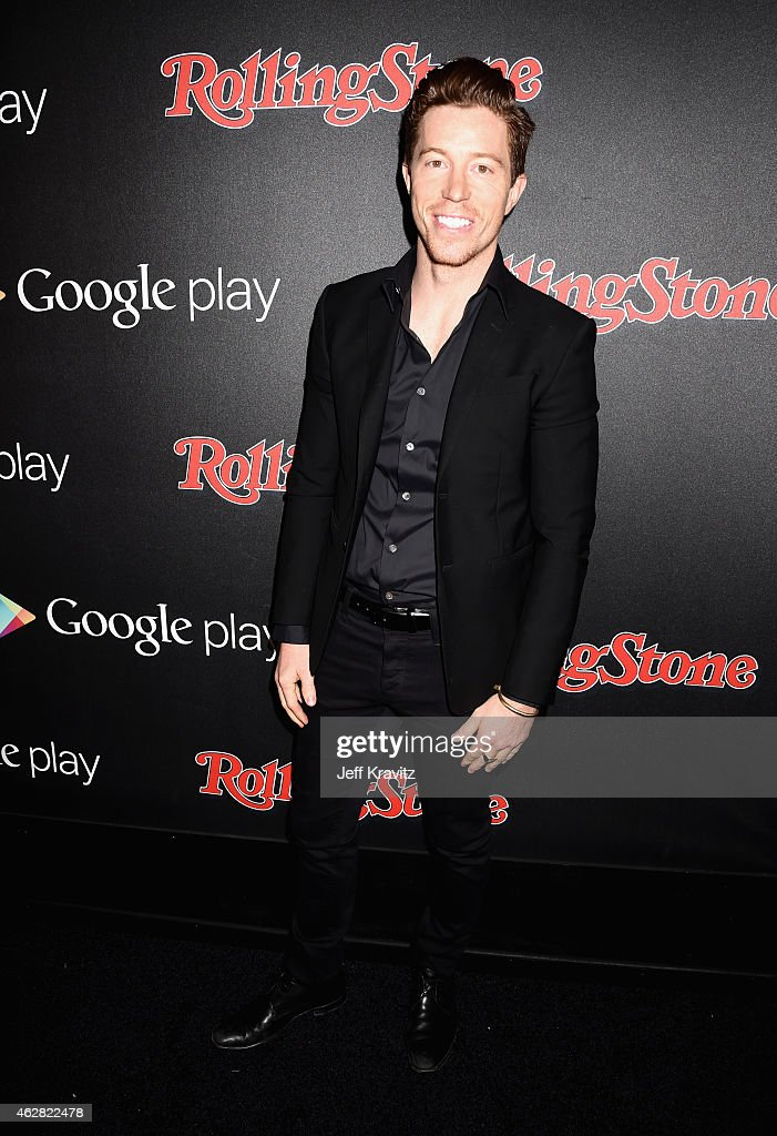 Snowboarder <a gi-track='captionPersonalityLinkClicked' href=/galleries/search?phrase=Shaun+White+-+Snowboarder&family=editorial&specificpeople=247245 ng-click='$event.stopPropagation()'>Shaun White</a> attends Rolling Stone and Google Play event during Grammy Week at the El Rey Theatre on February 5, 2015 in Los Angeles, California. The event celebrates a collaboration to bring years of iconic stories to the digital world. For the first time ever, Rolling Stone's vast archives is available for free to everyone on Android and iOS phones and tablets exclusively on mobile through Google Play Newsstand, Google's news reader app optimized for phones and tablets.