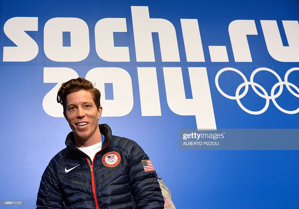 US snowboarder Shaun White speaks during a press conference at Gorky Media Center the Rosa Khutor Alpine Centre on February 5, 2014. White admitted on February 3 that Sochi's daunting slopestyle course which has already claimed two injury victims presented an 'intimidating' challenge.