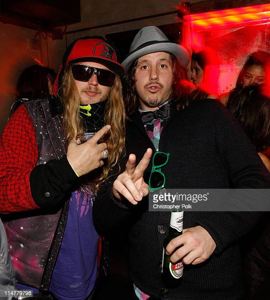 Snowboarder The Dingo and musician Cisco Adler attend Oakley at Skateland on January 24 2010 in Park City Utah