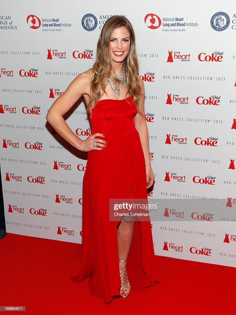 Snowboarder Torah Bright attends The Heart Truth's Red Dress Collection Fall 2013 Mercedes-Benz Fashion Show at 499 Seventh Avenue on February 6, 2013 in New York City.