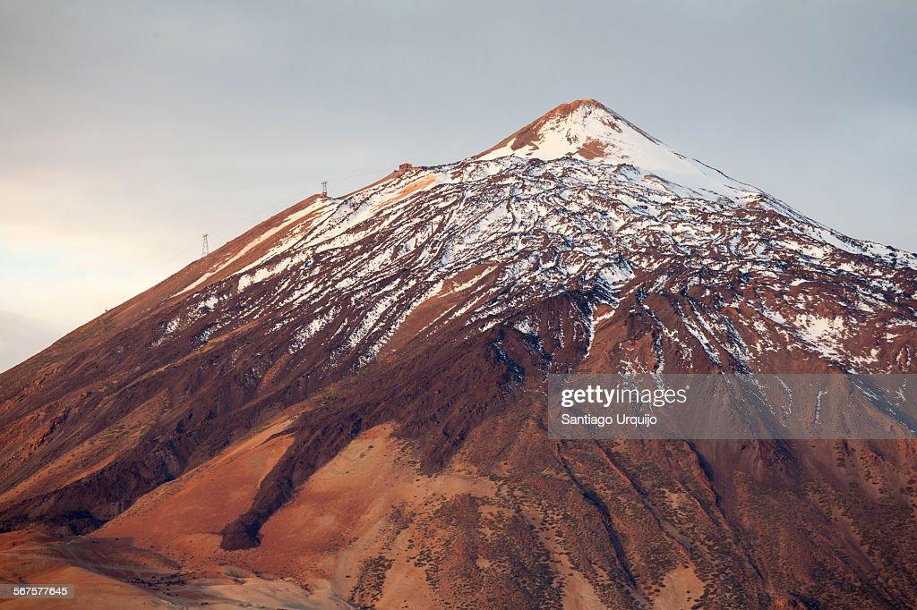 Snow-capped Mount Teide