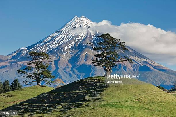 Snowcapped mountain, Mount Taranaki, Mount Egmont, North Island, New Zealand