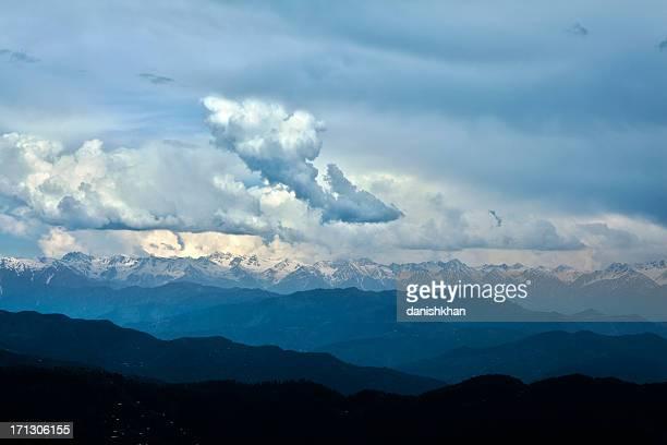 Snowcapped peaks of Siachen Glacier, Rolling Landscape, Kashmir