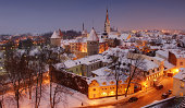 Snow-covered Rooftops in Estonia