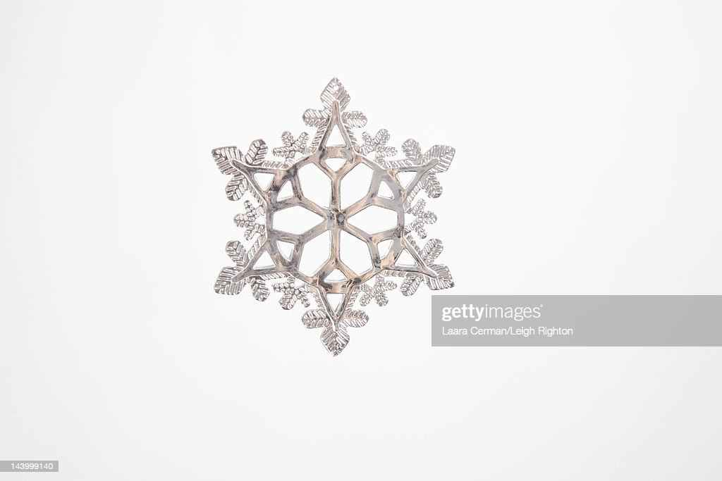 Snowflake Christmas decoration in studio. : Stock Photo