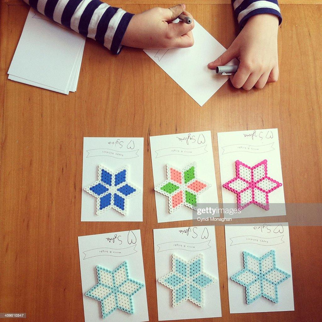Snowflake Crafts : Stock-Foto