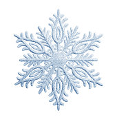 Snowflake on a white background -Clipping Path