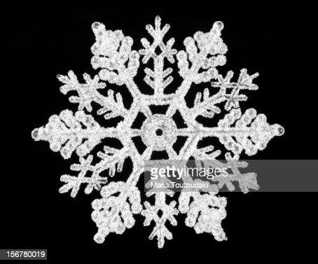 Snowflake on black