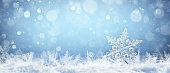 Snowflake On Snow With Snowfall