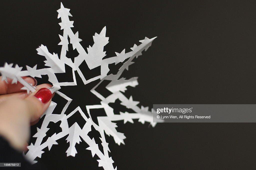 snowflake(paper-cut) : Stock Photo