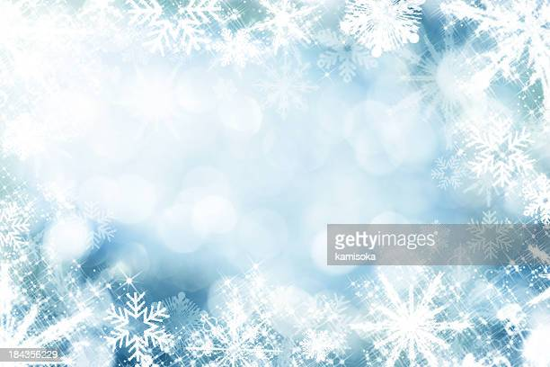 Snowflakes Infront Of Defocused Lights