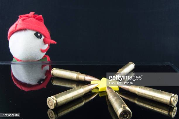 snowman observing bullets