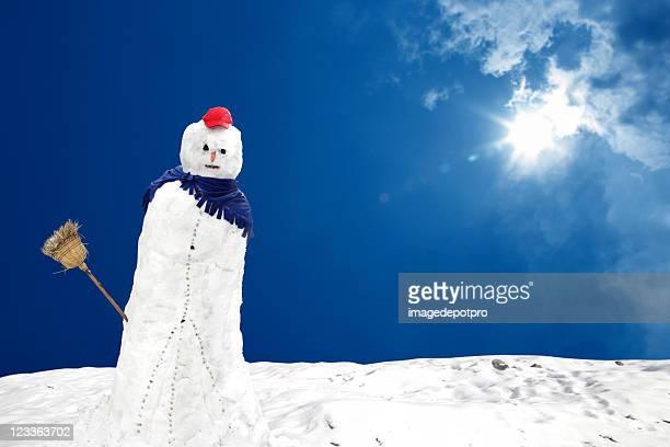 snowman under sun