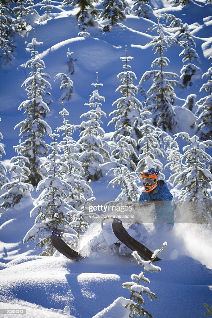 Snowmobiling. : Stock Photo