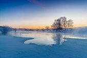 Snowscape of inner Mongolia