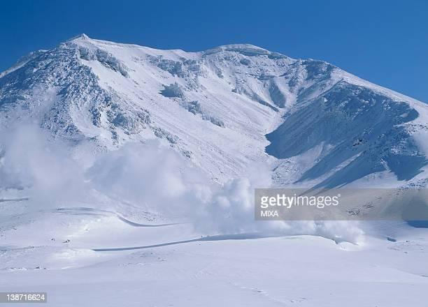 Snowscape of Mount Asahidake, Higashikawa, Hokkaido, Japan