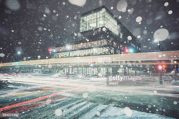 Snowstorm at the Library