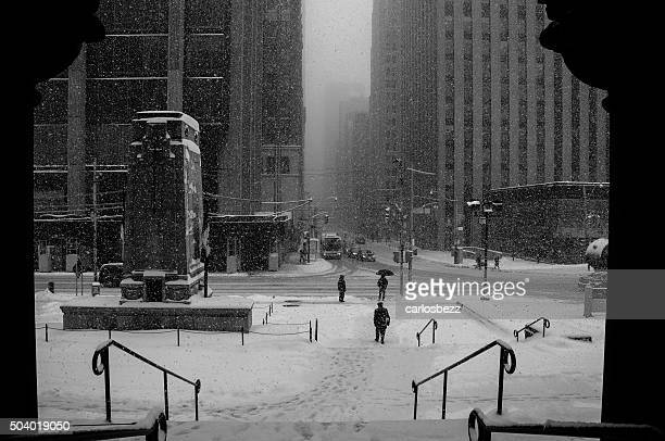 snowstorm downtown